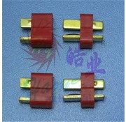 HY MODEL ACCESSORIES HY T PLUG U/GOLD PLATE FEMALE W/H/SHRINK (8)<br />