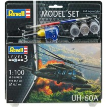 Revell 64984 - UH-60A Model Set Including Paints, Glue and Paintbrush, 1:100