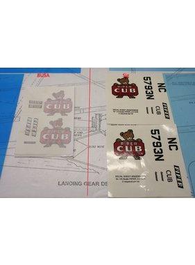 SIG SIG 1/6 SCALE J 3 CUB DECAL