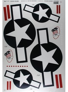 MAJOR DECALS MAJOR DECALS U.S. STARS AND BARS 60 SIZE
