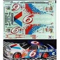 SLIXX VALVOLINE #6 NASCAR DECALS