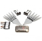 DJI DJI FLAME WHEEL F550 E-300 PROPUSLION SYSTEM  MULTI ROTOR AIR FRAME ARF<br /> INCLUDES FRAME ARMS 6 E300 SPEED CONTROLLERS 6 E-300 STYLE MOTORS 4 CW PROPS &amp; 4 CCW PROPS  legs &amp; battery not included