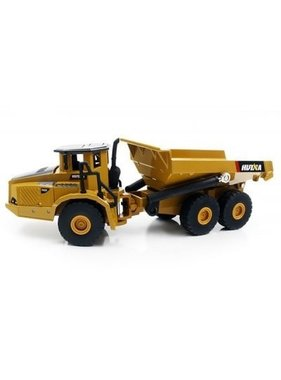 HUI NA HUI NA TOYS 1712 1:50 Alloy Articulated Dump Truck  -  DEEP YELLOW