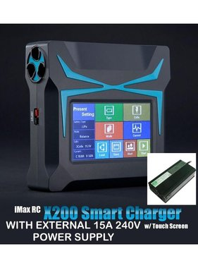 IMAX IMAX X200 DC 200W  Touch Screen Charger WITH  240V 15 AMP POWER SUPPLY