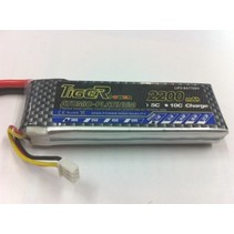 TIGER POWER LIPO 30C 7.4v 2200mah 18x34x110mm  131gr SOLD WITH XT60