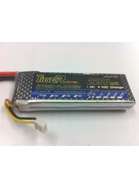 LION POWER - TIGER POWER LIPOS TIGER POWER LIPO 30C 7.4v 2200mah 18x34x110mm  131gr SOLD WITH XT60