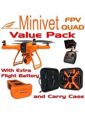 WINGSLAND WINGSLAND MINIVET FPV QUAD PACKAGE WITH BACKPACK AND EXTRA BATTERY