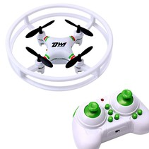 Dwi Dowellin Indoor Drone For Kids Beginners Mini RC Quadcopter 2.4Ghz 4CH 6-Axis Nano Drones RTF