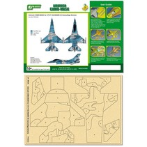 J's Work Airbrush Camo-Mask for 1/72 F-16A NSAWC 60 Camouflage Scheme