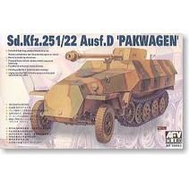 AFC CLUB 1:35 Sd.Kfz.251/22 Ausf.D. Pakwagen KIT