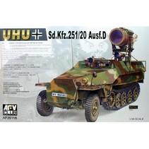 Afv Club 1/35 Af35068 Wwii German Sd.kfz.251/9 Ausf.d Half-track KIT
