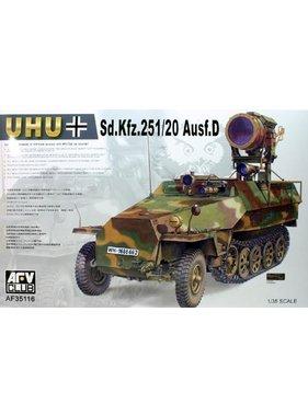 AFV Afv Club 1/35 Af35068 Wwii German Sd.kfz.251/9 Ausf.d Half-track KIT