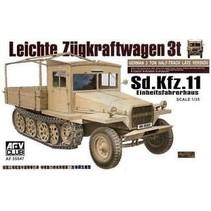 Afv Club 1/35 Af35047 WWII German Sd.kfz.11 3t Ton Half-track (late version )