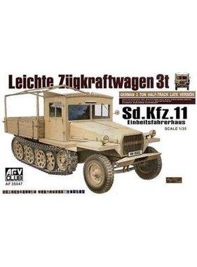 AFV Afv Club 1/35 Af35047 WWII German Sd.kfz.11 3t Ton Half-track (late version )