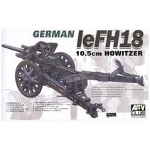 Afv Club 1/35 Af35050 WW II German 105mm LeFH18 Howitzer