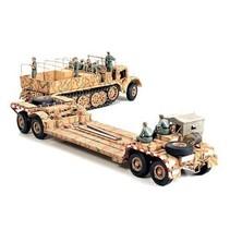 Tamiya 1/35 FAMO 18 ton half-track & Sd.Ah.116 Tank Transporter trailer Military Miniature Series 18 T Heavy Truck Tank Carrier