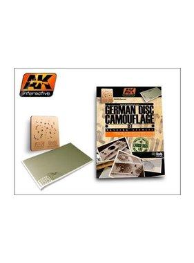 AK INTERACTIVE AK INTERACTIVE GERMAN DISC COMOUFLAGE SET 1/35 MASKING STENCIL