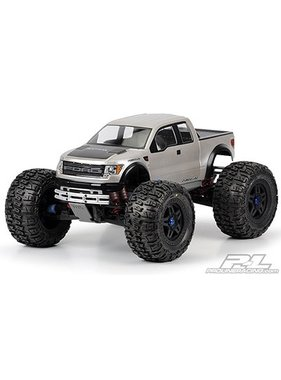 PROLINE PROLINE Ford F-150 SVT Raptor Clear Body for E-MAXX 3903 & 3905, E-REVO, T-MAXX 3.3 & REVO 3.3