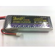 TIGER POWER LIPO 30C 11.1v 1800mah 21x34x110mm  123gr SOLD WITH EC-5 CONNECTOR