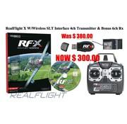 GREAT PLANES RealFlight X W/Wireless SLT Interface 4ch Transmitter & Bonus 6ch Rx