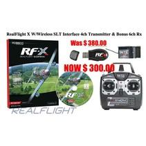 RealFlight X W/Wireless SLT Interface 4ch Transmitter & Bonus 6ch Rx