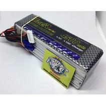 TIGER POWER LIPO 22.2V 45C 4500mAh READ SAFETY WARNING BEFORE USE 42mm x138mm x 50mm 586gr