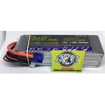 LION POWER LIPO 45C 18.5V 3500mAh READ SAFETY WARNING BEFORE USE 42.0 x 140.0 x 38.3mm 458g SOLD WITH EC-3 PLUG