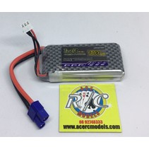 LION POWER LIPO 25C 7.4V 1300mah READ SAFETY WARNING BEFORE USE 37x30x12mm  79gr SOLD WITH EC-3 PLUG