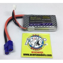 LION POWER LIPO 25C 7.4V 900mah READ SAFETY WARNING BEFORE USE 24.5x55x10.5mm  540gr SOLD WITH EC-3<br />  PLUG