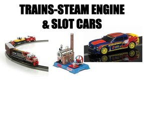 TRAINS-SLOTCARS-STEAM ENGINE