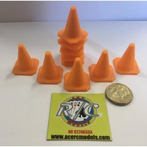 ACE 3D PRINT 1:14  TRAFFIC CONES ( 10 PACK )  ORANGE ( OTHER COLOURS AVAILABLE ON REQUEST ) <br /> THIICK WALL &amp; BASE HEAVY DUTY VERSION