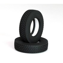 ROADY TRACTOR TRUCK TYRES 1.7&quot; COMMERCIAL 1/14 SEMI TRUCK TYRES <br />SUITS TAMIYA TRACTOR TRUCKS