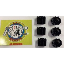 ACE 1:14 TRUCK HUBS  BLACK 3 PAIRS ( ENOUGH FOR 3 AXLES )