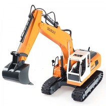 Double E 1:16 2-in-1 RC Alloy Excavator - RTR - YELLOW
