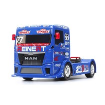 TAMIYA TT01 TYPE E RACING TRUCK MAN TGS TEAM REINERT RACING (NEEDS SPEED CONTROLLER, 2CH RADIO, BATTERY AND CHARGER) same body & chassis as HAHN race truck