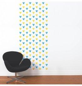 ADHÉSIF FORME - Chevrons bleu et jaune