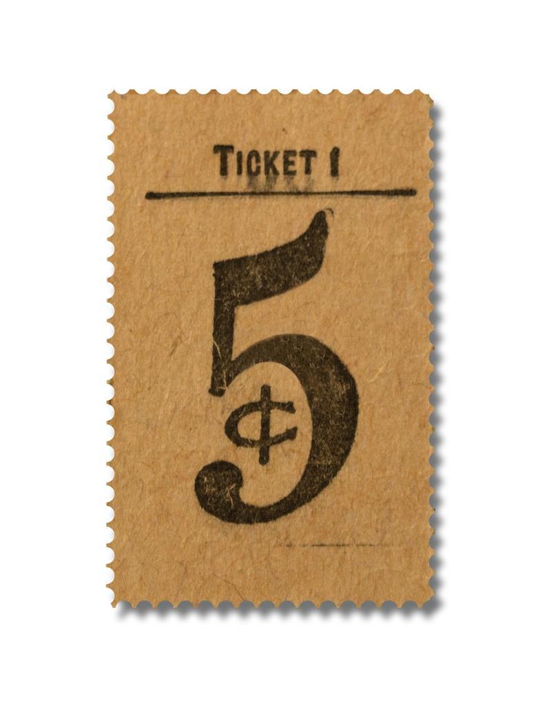 ACRYLIC FRAME - 5₵ Ticket