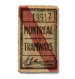 CADRE EN ACRYLIQUE - Montreal Tramways 19917