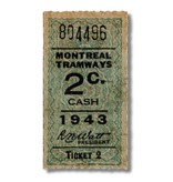 ACRYLIC FRAME - Montreal Tramways 2c - Année 1943