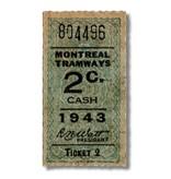 CADRE EN ACRYLIQUE - Montreal Tramways 2c  Année 1943