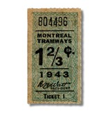 ACRYLIC FRAME - Montreal Tramways 1 2/3c - Année 1943
