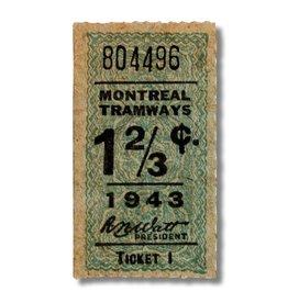 CADRE EN ACRYLIQUE - Montreal Tramways 1 2/3c - Année 1943