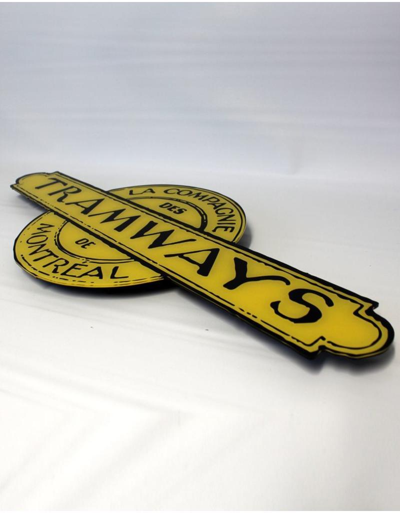 CADRE EN ACRYLIQUE - Logo de LA COMPAGNIE DES TRAMWAYS DE MONTRÉAL