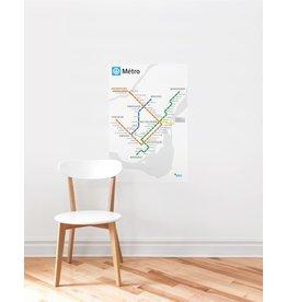 ADHÉSIF - Plan du métro blanc