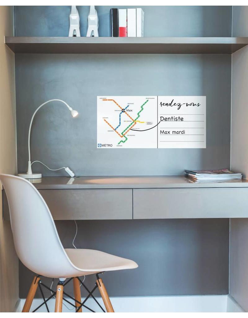 WALL DECALS - White board Métro map