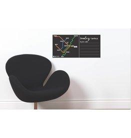 ADHÉSIF TABLEAU - Plan du métro noir