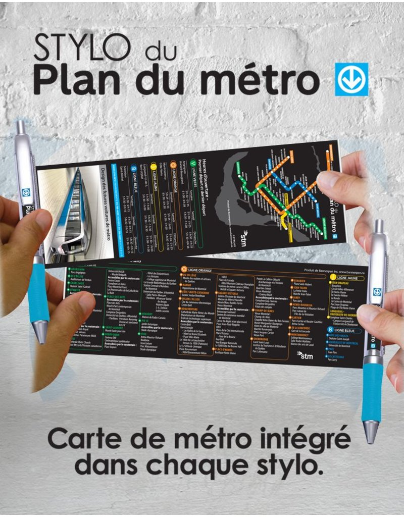 STYLO BANNIÈRE - Plan du métro