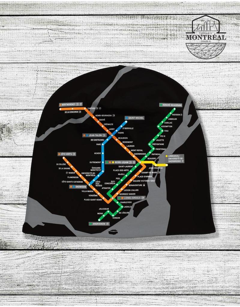 Tuque - Plan du métro noir