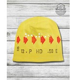 Winter beanie - Yellow transfer ticket