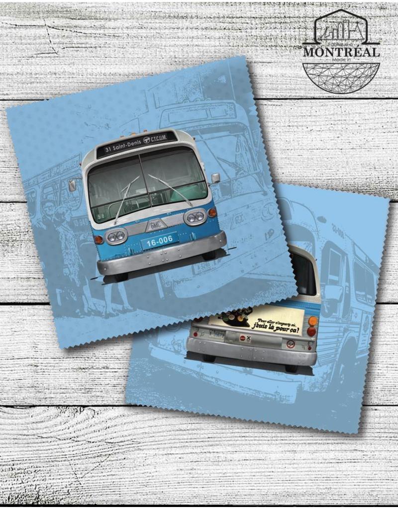 Lingette de lunettes - Autobus New Look bleu